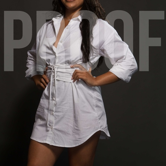 Dresses & Skirts - White button down dress